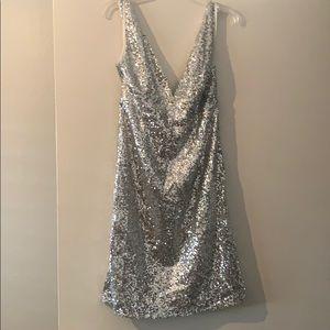 Gorgeous Silver Sequins Dress Never Worn